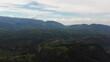 Aerial view of Bucegi Mountains, Carpathian Mountains, Romania.