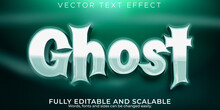 Ghost Text Effect, Editable Horror And Cartoon Text Style
