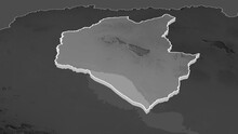 Siemreab - Province Of Cambodia Extruded. Grayscale