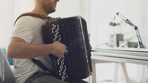 Fotografia, Obraz Professional musician playing the accordion