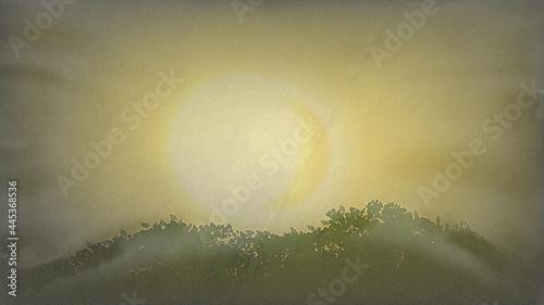 Fotografia, Obraz Asahi in the mountains where the fog can enter