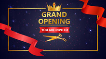 Grand Opening Design With Gold Ribbon Confetti_17