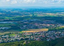 Odenwaldtal Mit Schloss Alsbach Luftaufnahme