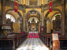 Rijeka, Croatia. Interior Of Rijeka Cathedral (St. Vitus Cathedral).