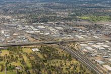 Aerial View Of The Mini Stack Interchange In Phoenix, Arizona