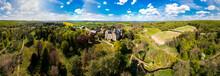 Medieval Schloss Eisenbach On Sunny Day, Lauterbach, Hessen, Germany