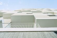 Spain, Madrid, Balconies Of Mendez Alvaro Residencial Apartment Building