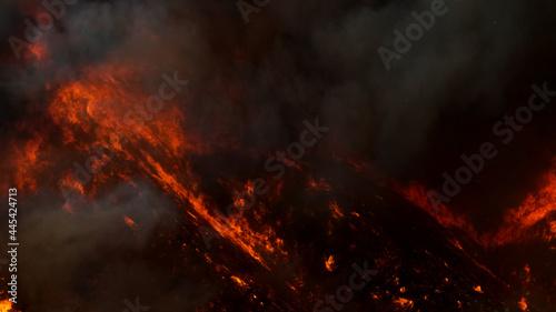 Photo Saddleranch Fire Blaze California Wildfire Los Angeles