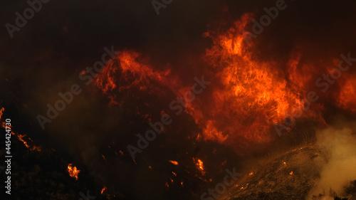 Canvas Print Saddleranch Fire Blaze California Wildfire Los Angeles