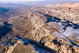 Aerial view of Cappadocian rock formations