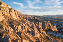 Aerial View Of Eroded Rock Formations In Cappadocia