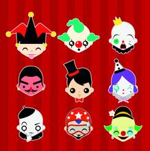 Sticker De Circo Emojis Em Vetor