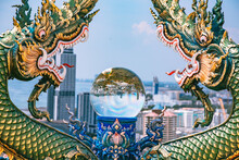 Wat Khao Phra Khru Viewpoint In ChonBuri, Thailand