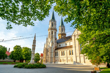 Austria, Klosterneuburg, Towers Of Abbey On Sunny Day