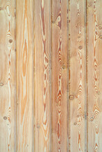 Wooden Decorative Surface With Light Brown Background.
