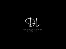 Letter DL Logo, Signature Dl Logo Icon Vector Image Design For Business