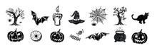 Halloween Symbols Hand Drawn Illustrations