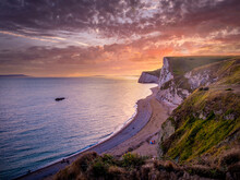 The White Cliffs Of Lulworth Cove In England - Nature Photography