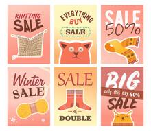 Knitting Sale Flyers Set
