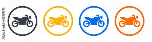 Fényképezés Motorbike or motorcycle icon vector illustration