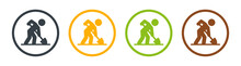 Worker Digging Icon Vector Illustration.
