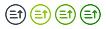 Sorting List Icon. Arrange Position Of Words By Ascending Order Vector Illustration. Classification Concept.