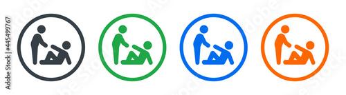 Fotografia, Obraz Assistance symbol