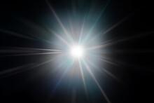 輝く放射光と放射線のアブストラクトのグラフィックス