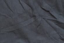 Black Texture Of The Fabric For Socks. Fabric Texture.