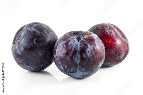 Obraz na plátně fresh plum fruit cutout