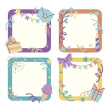 Hand Drawn Birthday Collage Frame Pack