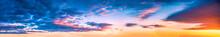 Beautiful Cloudscape And Dramatic Sunset