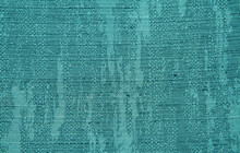 Turquoise Textured Fabric With A Large Weave. Canvas Background For Design Or Sample