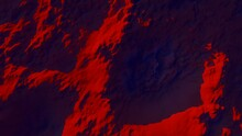 Relief Mountain Background Pattern Of Crystal Faces Of Red Planet 3d Render