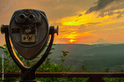 Fotografia The view from the hairpin turn on the Mohawk Trail in North Adams MA
