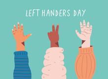 Left Handers Day Card
