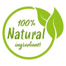 Modern Green Stamp 100% Natural Ingredients