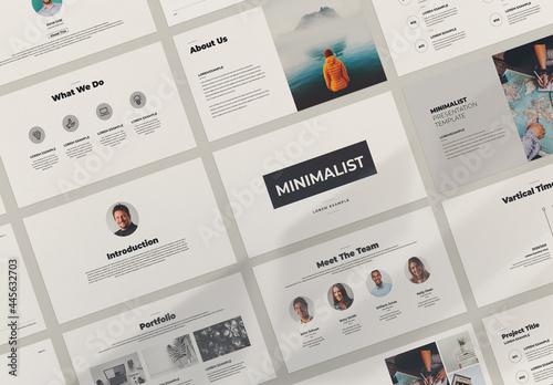 Minimalist Presentation Layout