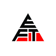 EFT Triangle Letter Logo Design With Triangle Shape. EFT Triangle Logo Design Monogram. EFT Triangle Vector Logo Template With Red Color. EFT Triangular Logo Simple, Elegant, And Luxurious Logo. EFT