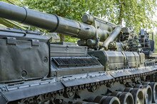 Rare Retro Cannon. Vadim Zadorozhny Vehicle Museum. One Of The Largest Private Antique Vehicle Museums In Europe. Moscow Region, Russia