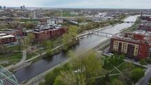 Montréal- Lachine Canal Near Atwater Market & Parc Daisy Peterson Sweeney & Parc Madeleine-Parent
