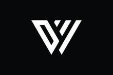 WD Logo Letter Design On Luxury Background. DW Logo Monogram Initials Letter Concept. WD Icon Logo Design. DW Elegant And Professional Letter Icon Design On Black Background. W D DW WD