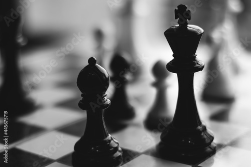 Chess board game Fototapet