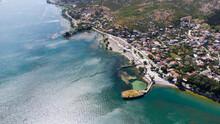 Lake Shkoder Albania. Picture Taken On The North Albanian Artificial Lake.