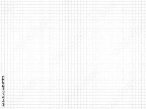 破線の方眼紙、グラフ用紙、ノートの背景素材、イラスト(グレー) Fototapet