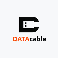 Illustration Initial D USB Shape Logo Design Inspiration