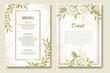 Elegant wedding invitation floral design