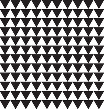 Seamless Geometric Pattern With Black Triangles