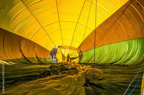 Fotografie, Obraz Inside of a hot-air balloon