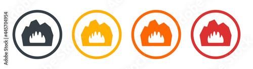 Fotografija Cave icon vector. Natural and environment concept
